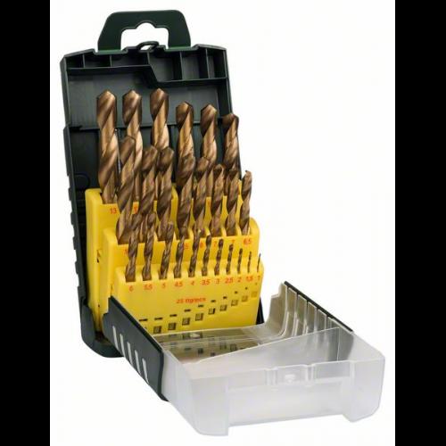 8x Spiralbohrer 14-25mm HSS-TiN Bohrer Satz Metallbohrer Bohrerset Alu Koffer